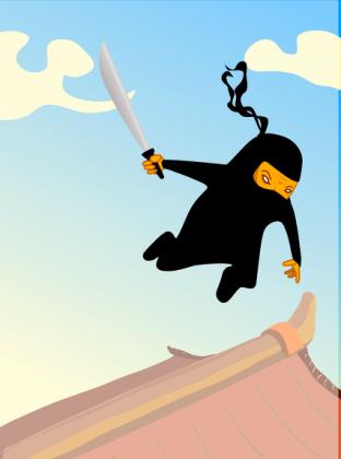 Kubek Latający Ninja