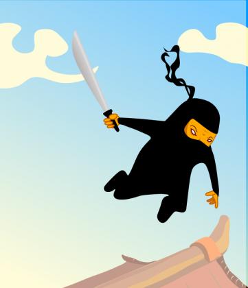 Poszewka na jaska Latajacy Ninja