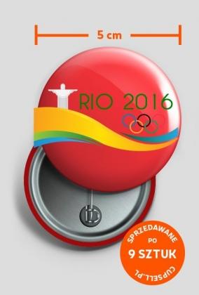 Przypinka duża Igrzyska Olimpijskie Rio 2016