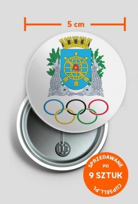 Przypinka duża Olimpiada Rio 2016