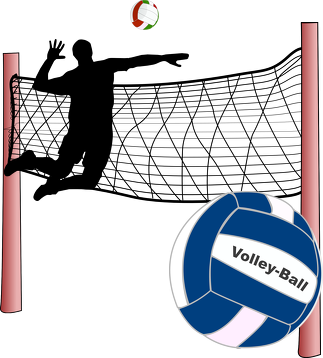Bluza rozpinana z kapturem Volley-Ball