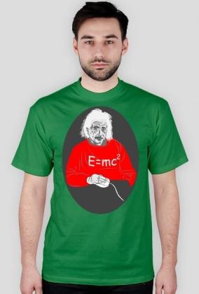 T-Shirt z nadrukiem Albert Einstein E=mc2