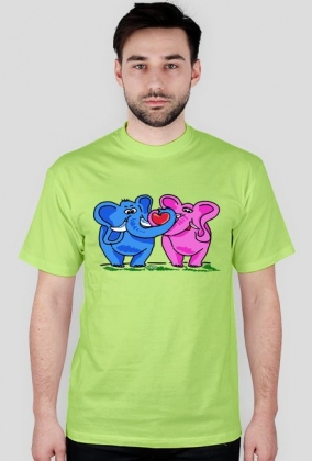 T-Shirt Zakochane słonie