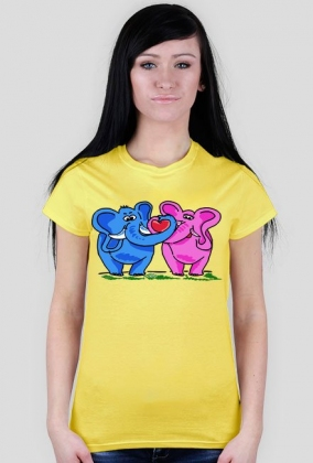 Bluzka Zakochane słonie