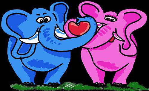Pluszowy miś Zakochane słonie
