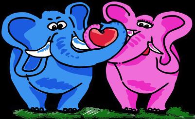 Stringi Zakochane słonie