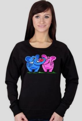 Bluza Zakochane słonie