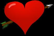 Pluszowy miś Serce przebite strzałą