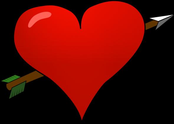 Torba ekologiczna na zakupy Serce przebite strzala