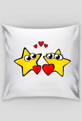 Poszewka na mala poduszke Zakochane gwiazdki
