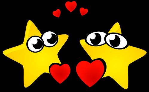 Pluszowy miś Zakochane gwiazdki