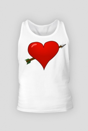 Koszulka męska Serce przebite strzałą