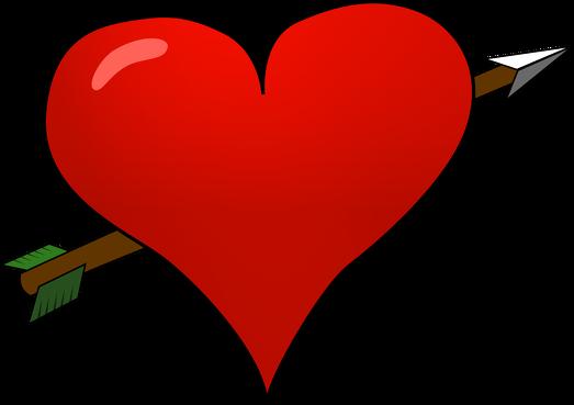 Bokserki damskie Serce przebite strzałą