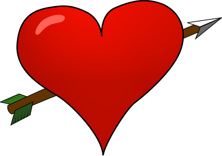 Bokserki męskie Serce przebite strzałą