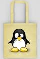 Bawelniana torba ekologiczna na zakupy Zezowaty pingwin