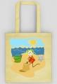 Torba ekologiczna na zakupy Dziewczynka na plaży