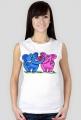 Koszulka damska bez rękawów Zakochane słonie