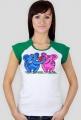 Koszulka damska Zakochane słonie