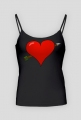 Koszulka na ramiączkach Serce przebite strzałą