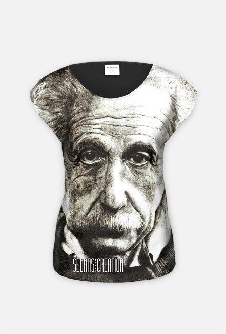 Einstein - koszulka damska, fullprint