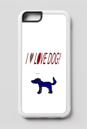 Ip6/6s etui I love Dog!