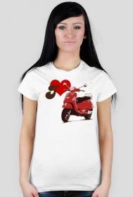 I love scooter - damska koszulka motocyklowa