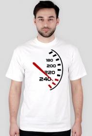 Prędkościomierz - męska koszulka motocyklowa