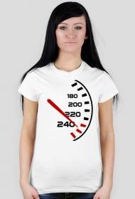 Prędkościomierz - damska koszulka motocyklowa