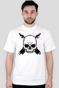 Czaszka, świece - męska koszulka motocyklowa
