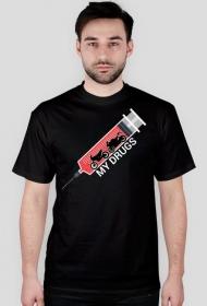 My drugs - męska koszulka motocyklowa