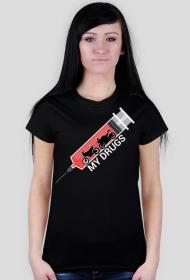 My drugs - damska koszulka motocyklowa
