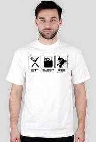 Eat sleep ride - męska koszulka motocyklowa