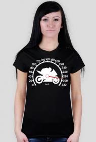300km/h - damska koszulka motocyklowa
