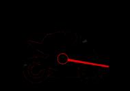 300km/h - męska koszulka motocyklowa white