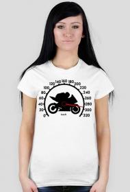 300km/h - damska koszulka motocyklowa white
