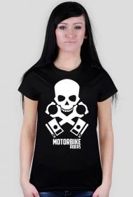 Motorbike riders skull - damska koszulka motocyklowa