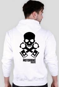 Motorbike riders skull - bluza motocyklowa white tył