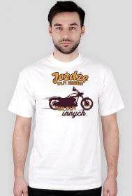 Jeżdżę dla siebie, nie dla innych - Męska koszulka motocyklowa