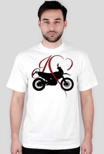 I love moto enduro/cross - męska koszulka motocyklowa