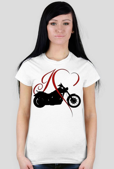 I love moto chopper/cruiser - męska koszulka motocyklowa