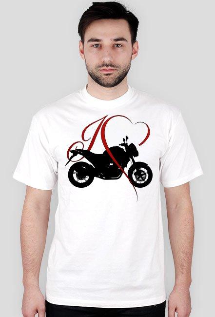I love moto naked - męska koszulka motocyklowa