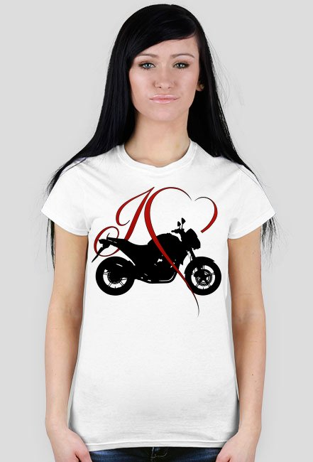 I love moto naked - damska koszulka motocyklowa