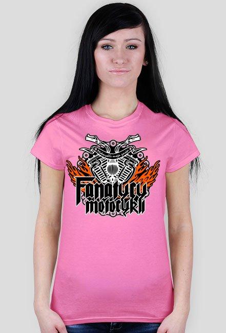 FanatycyMotocykli - Damska koszulka motocyklowa