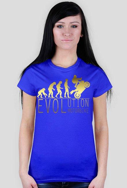 Evolution motorbike gold - damska koszulka motocyklowa