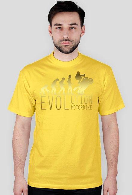 Evolution motorbike gold - męska koszulka motocyklowa