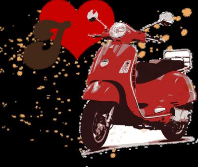 I love scooter - męska koszulka motocyklowa