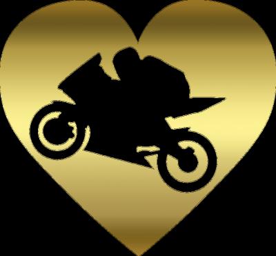 Motoserce gold - bluza motocyklowa