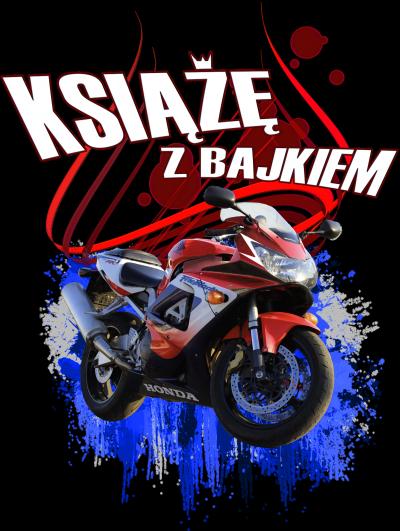 Książę z bajkiem - Koszulka męska dla motocyklisty
