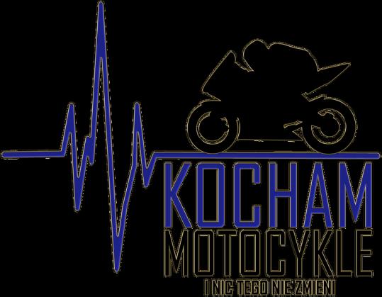 Kocham motocykle i nic tego nie zmieni ekg niebieski - bluza motocyklowa