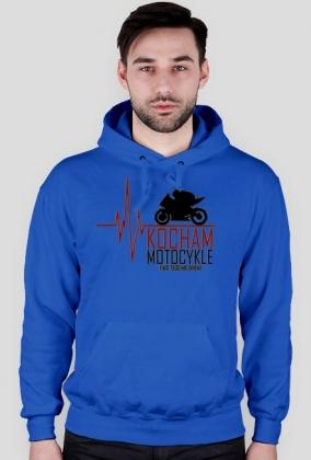 Kocham motocykle i nic tego nie zmieni ekg czerwony - bluza motocyklowa